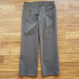 Eileen Fisher Petite Lg Gray Stretch Dress Pants